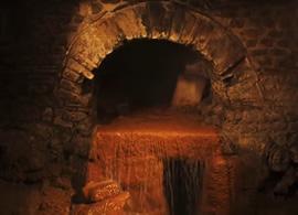 格雷西和格斯游览巴斯罗马浴场博物馆