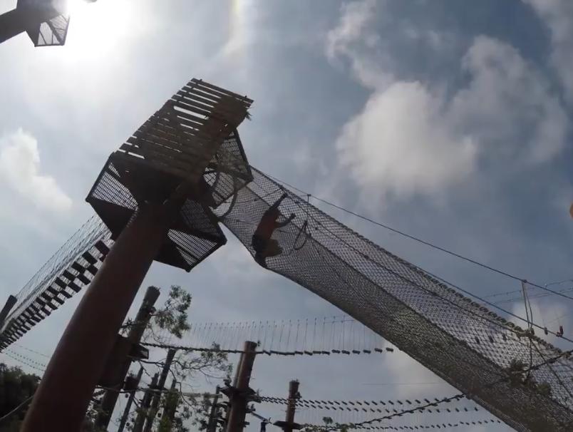 墨西哥坎昆萨维奇公园超刺激的极限活动